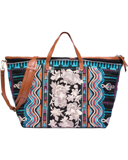 Johnny Was Women's Yucatan Weekend Bag , Black, hi-res