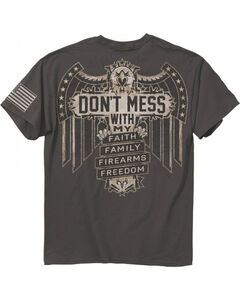 Buck Wear Men's Charcoal Don't Mess Tee , Charcoal, hi-res
