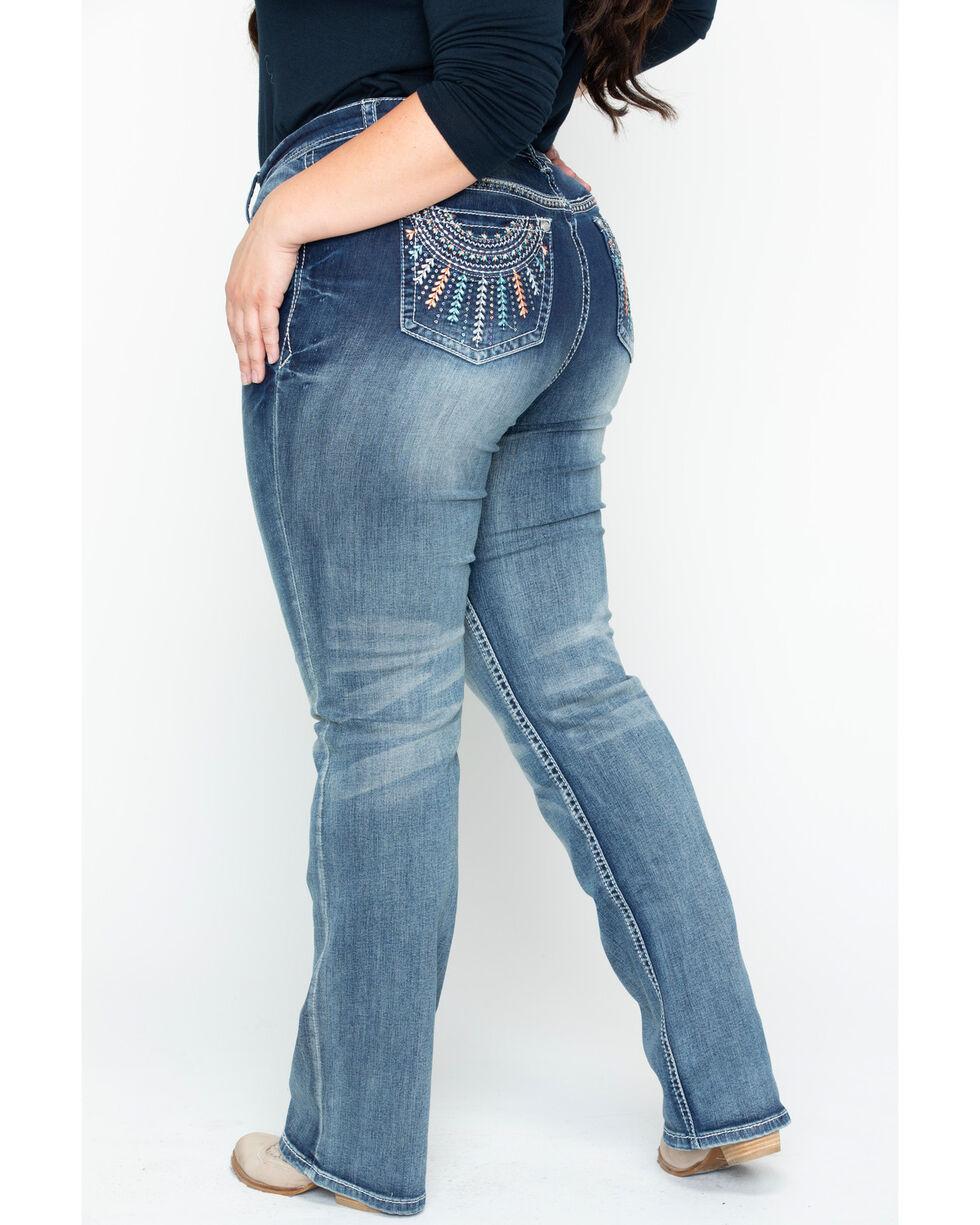 Grace in LA Women's Plain Skinny Jeans - Plus Size, Tan, hi-res