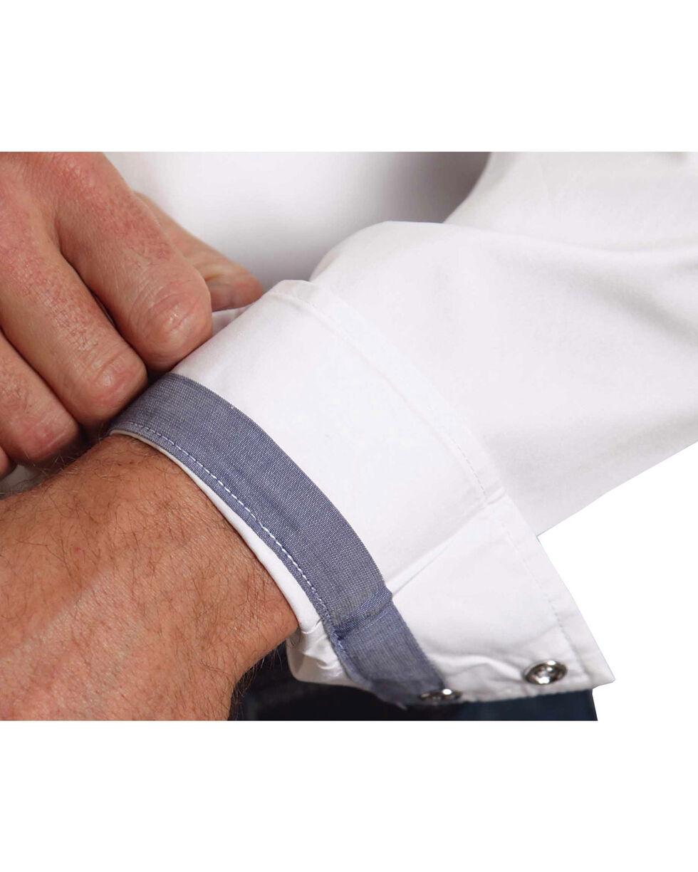 Stetson Solid White Fancy Yoke Western Shirt, White, hi-res