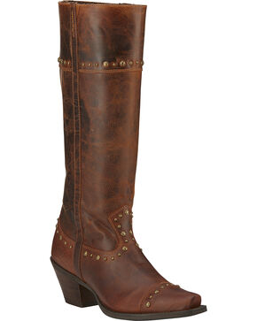 Ariat Marvel Tall Cowgirl Boots - Snip Toe, Brown, hi-res
