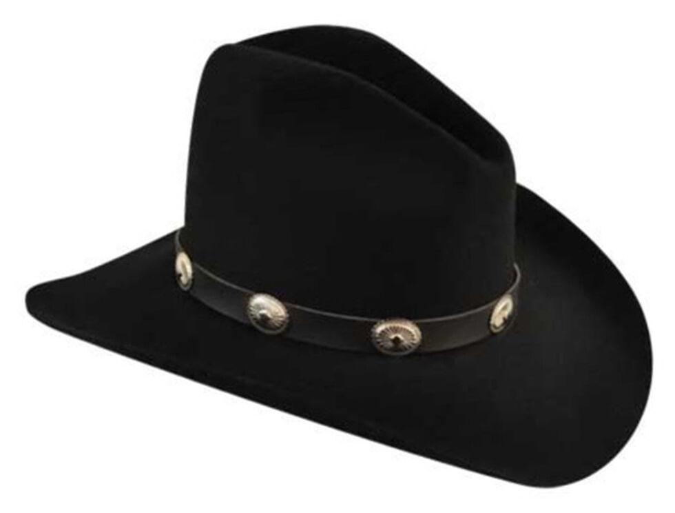 Bailey Men's Tombstone Black Western Hat, Black, hi-res