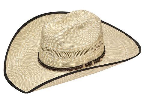 Twister 20X Shantung Truman Bound Edge Straw Cowboy Hat, Tan, hi-res