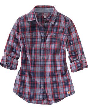 Carhartt Women's Stone Dodson Shirt , Blue, hi-res