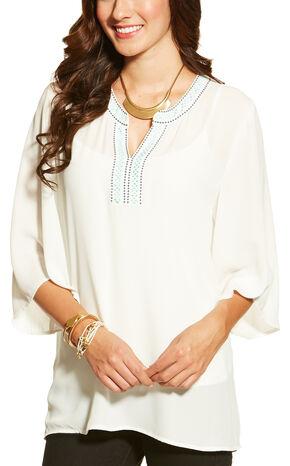 Ariat Women's Victoria Top, White, hi-res