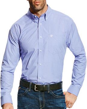 Ariat Men's Pro Series Edison Check Long Sleeve Button Down Shirt - Big & Tall, Light Purple, hi-res