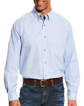 Ariat Men's Light Blue Miley Long Sleeve Shirt , Light Blue, hi-res