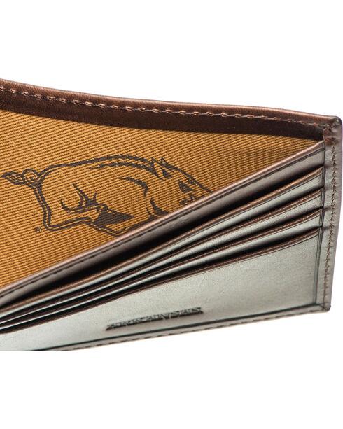 Jack Mason Men's Arkansas Legacy Traveler Wallet , Brown, hi-res