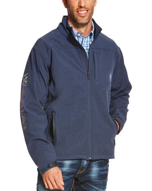 Ariat Men's Indigo Softshell Logo Jacket, Indigo, hi-res