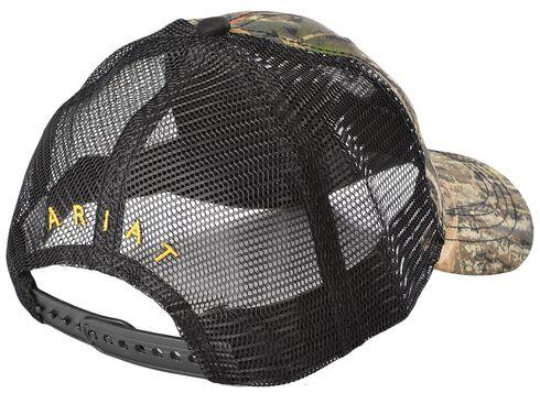 Ariat Camo and Yellow Logo Ballcap, Camouflage, hi-res