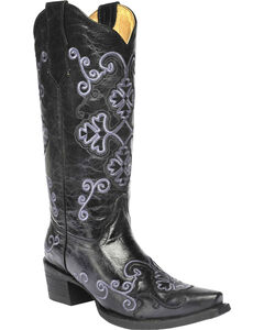 Circle G Women's Embroidered Cowgirl Boots - Snip Toe, , hi-res