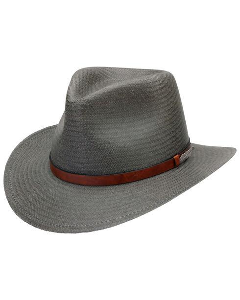 Black Creek Men's Toyo Straw Hat, Grey, hi-res