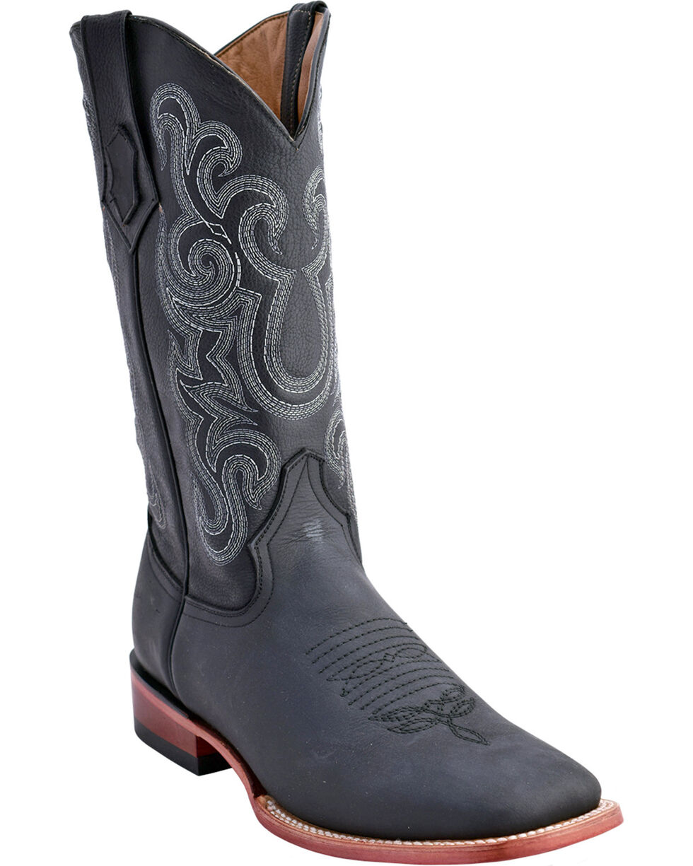 Ferrini Men's Maverick Western Boots - Square Toe , Black, hi-res