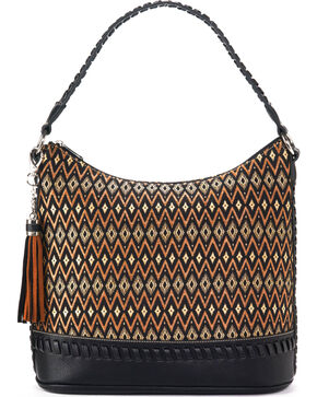 Blazin Roxx Women's Arizona Fabric Zip Tote , Black, hi-res