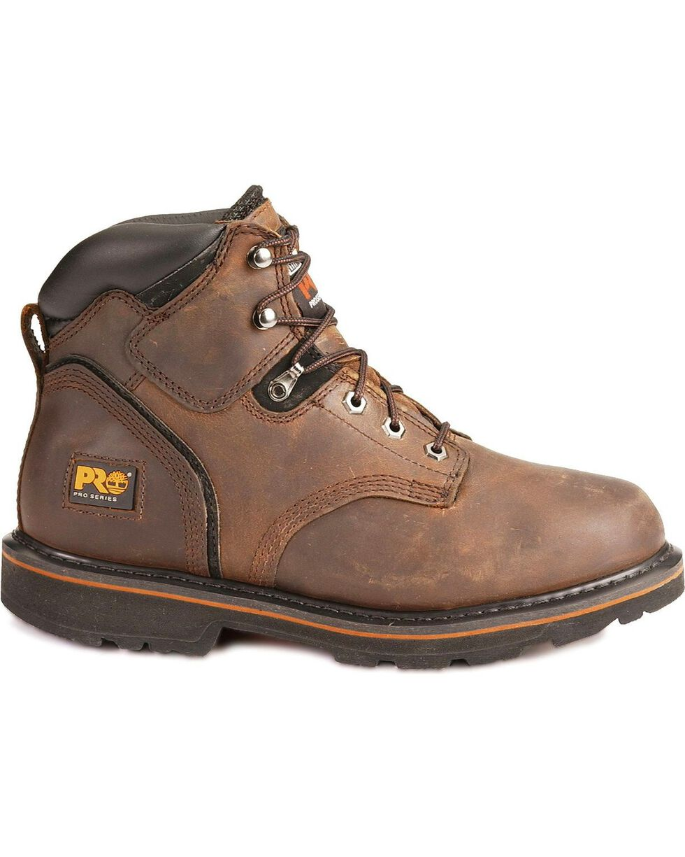 """Timberland Pro Pit Boss 6"""" Lace-Up Work Boots, Brown, hi-res"""