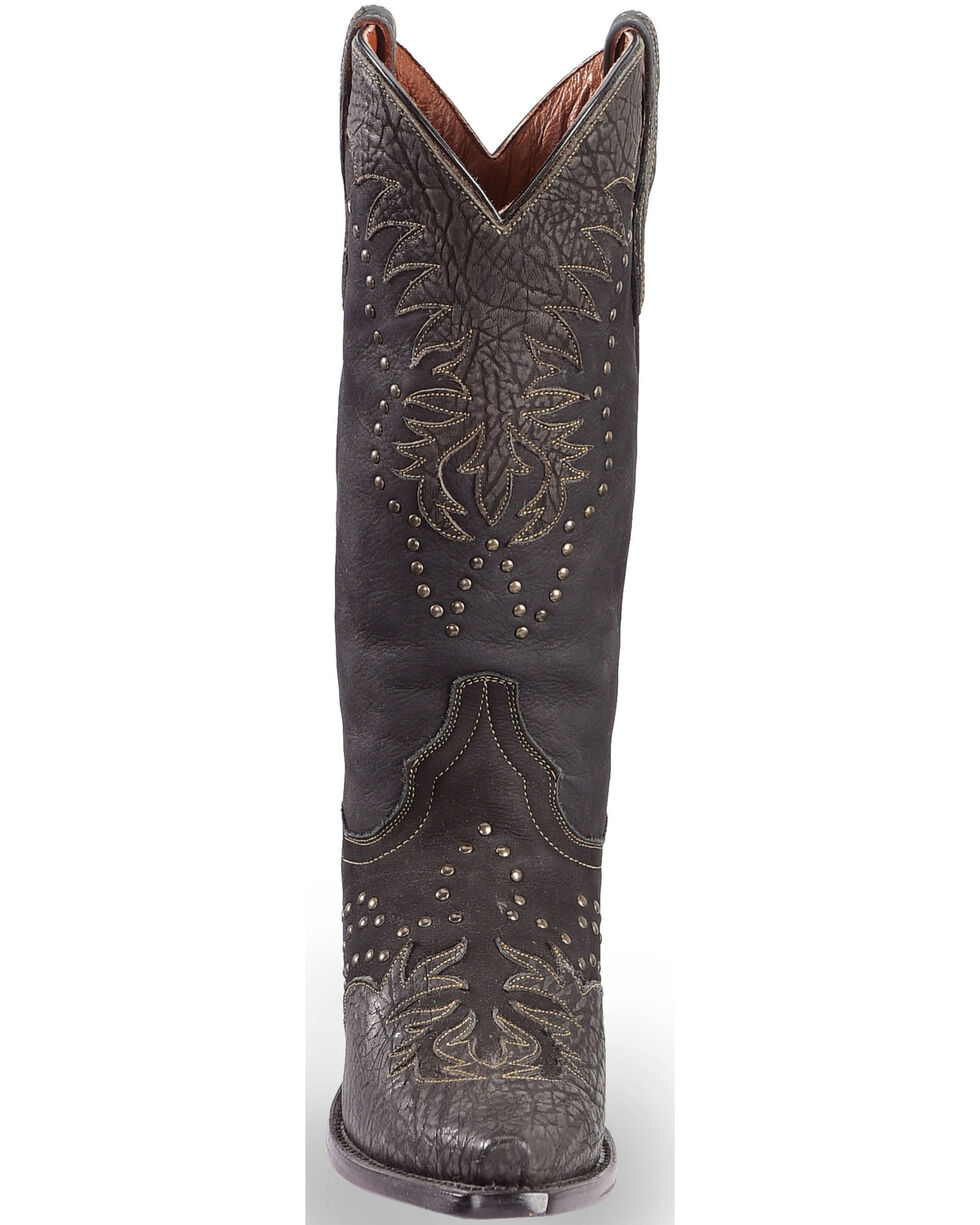 Dan Post Women's Invy Black Cowgirl Boots - Snip Toe, Black, hi-res