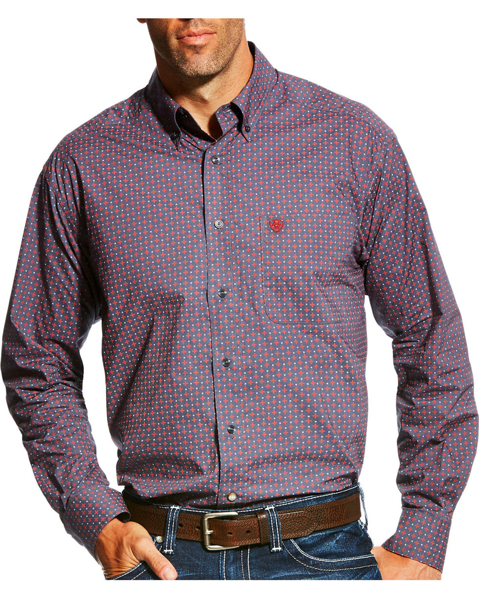 Ariat Men's Anniston Print Long Sleeve Button Down Shirt - Tall, , hi-res