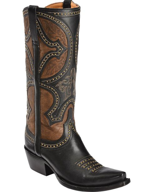 Lucchese Handcrafted 1883 Leila Cowgirl Boots - Snip Toe, Black, hi-res