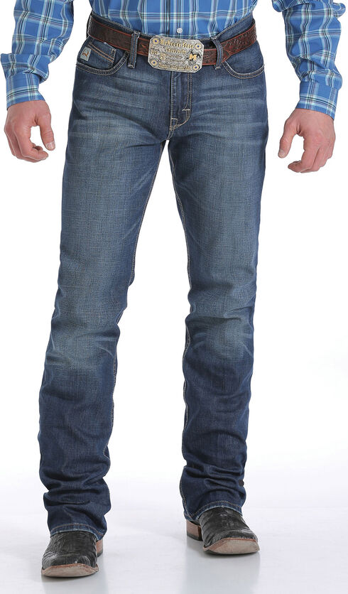 Cinch Men's Indigo Ian Performance Mid-Rise Slim Jeans - Boot Cut, Indigo, hi-res
