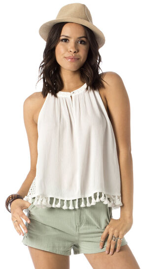 Miss Me Tassle Crop Tank Top, , hi-res
