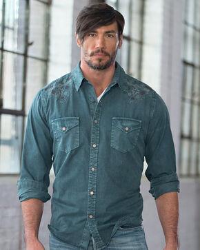 Ryan Michael Men's Silk Gabardine Shirt, Evergreen, hi-res