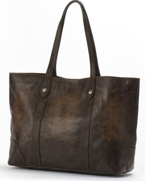 Frye Women's Melissa Leather Shopper Bag , Slate, hi-res
