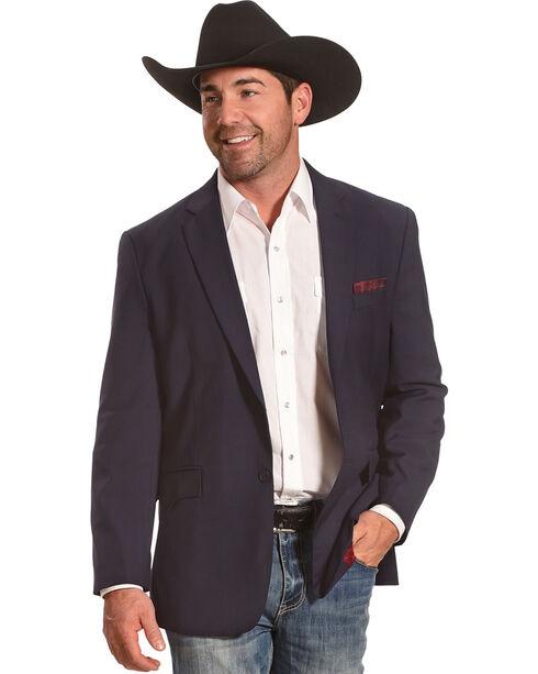 Circle S Platinum Men's Blue Shadow Western Sport Coat, Navy, hi-res