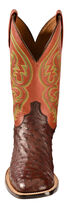 Lucchese Handcrafted 1883 Josiah Full Quill Ostrich Cowboy Boots - Square Toe, Sienna, hi-res