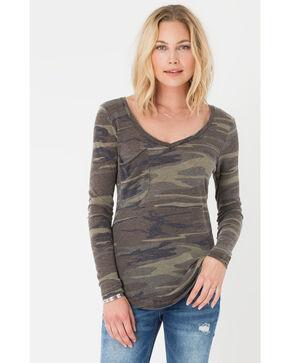 Z Supply Women's Camo Long Sleeve Pocket Tee , Camouflage, hi-res