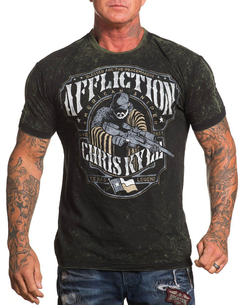 Chris Kyle Men's Black Reversible Peacemaker Tee , Black, hi-res