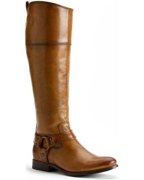 Frye Women's Melissa Harness Inside Zipper Riding Boots - Extended Calf, Camel, hi-res