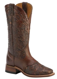 Boulet Hand Tooled Ranger Cowgirl Boots - Square Toe, , hi-res