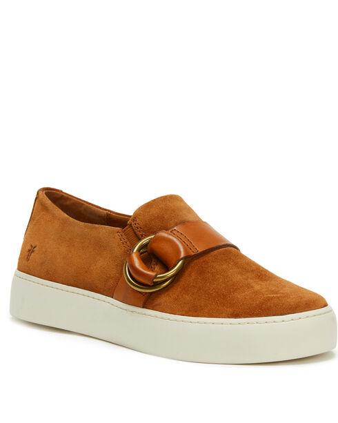 Frye Women's Nutmeg Lena Harness Slip On Shoes - Round Toe, Lt Brown, hi-res