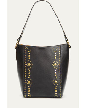 Frye Women's Harness Stud Bucket Tote, Black, hi-res