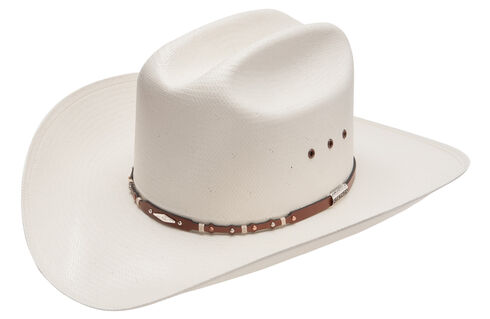 Stetson Saddle Rock 10X Straw Cowboy Hat, Natural, hi-res
