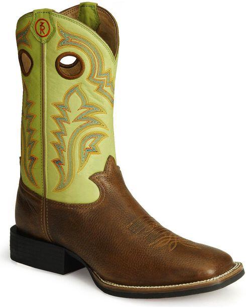 Tony Lama 3R Stockman Cowboy Boots, Auburn, hi-res