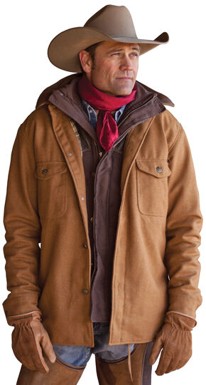 STS Ranchwear Men's Clifton Camel Wool Jacket - Big & Tall - 4XL, Camel, hi-res
