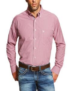 Ariat Men's Dark Pink Dakota Long Sleeve Shirt , Dark Pink, hi-res