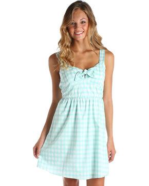 Wrangler Women's Green/White Gingham Western Dress, Green, hi-res