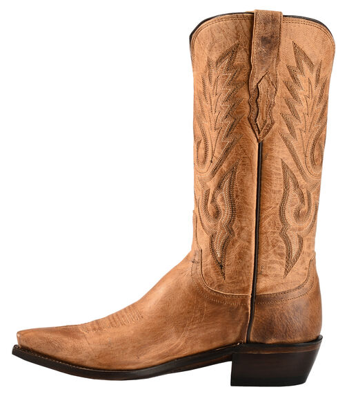 Lucchese Handcrafted 1883 Tan Mad Dog Goatskin Cowboy Boots - Snip Toe, Tan, hi-res
