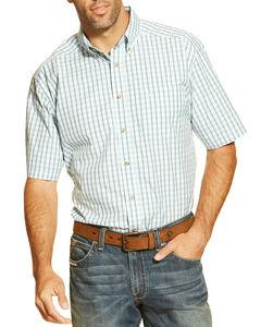 Ariat Men's Hagan Short Sleeve Shirt, Blue, hi-res