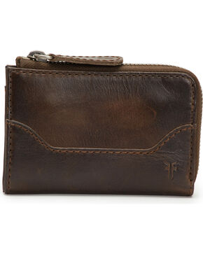 Frye Women's Small Melissa Leather Zip Wallet , Slate, hi-res