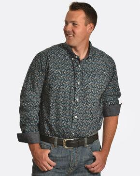 Cody James Men's Jonas Paisley Long Sleeve Shirt - Tall, Black, hi-res