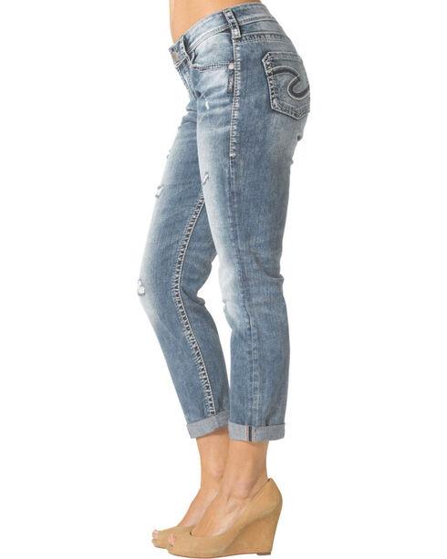 Silver Women's Boyfriend Jeans, Denim, hi-res
