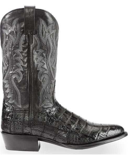 Dan Post Men's Everglades Black Belly Caiman Cowboy Boots - Round Toe, Black, hi-res