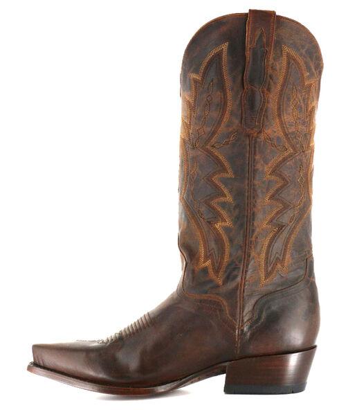 El Dorado Distressed Goat Cowboy Boots - Snip Toe, Brown, hi-res