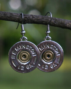 SouthLife Supply Women's Abigail Single Dangle Shotshell Earring in Traditional Silver, Silver, hi-res