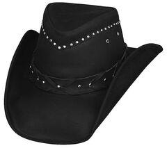 Bullhide Burnt Dust Top Grain Leather Hat, , hi-res