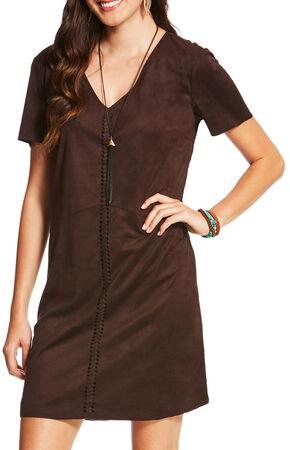 Ariat Women's Brown Afton Dress , Brown, hi-res