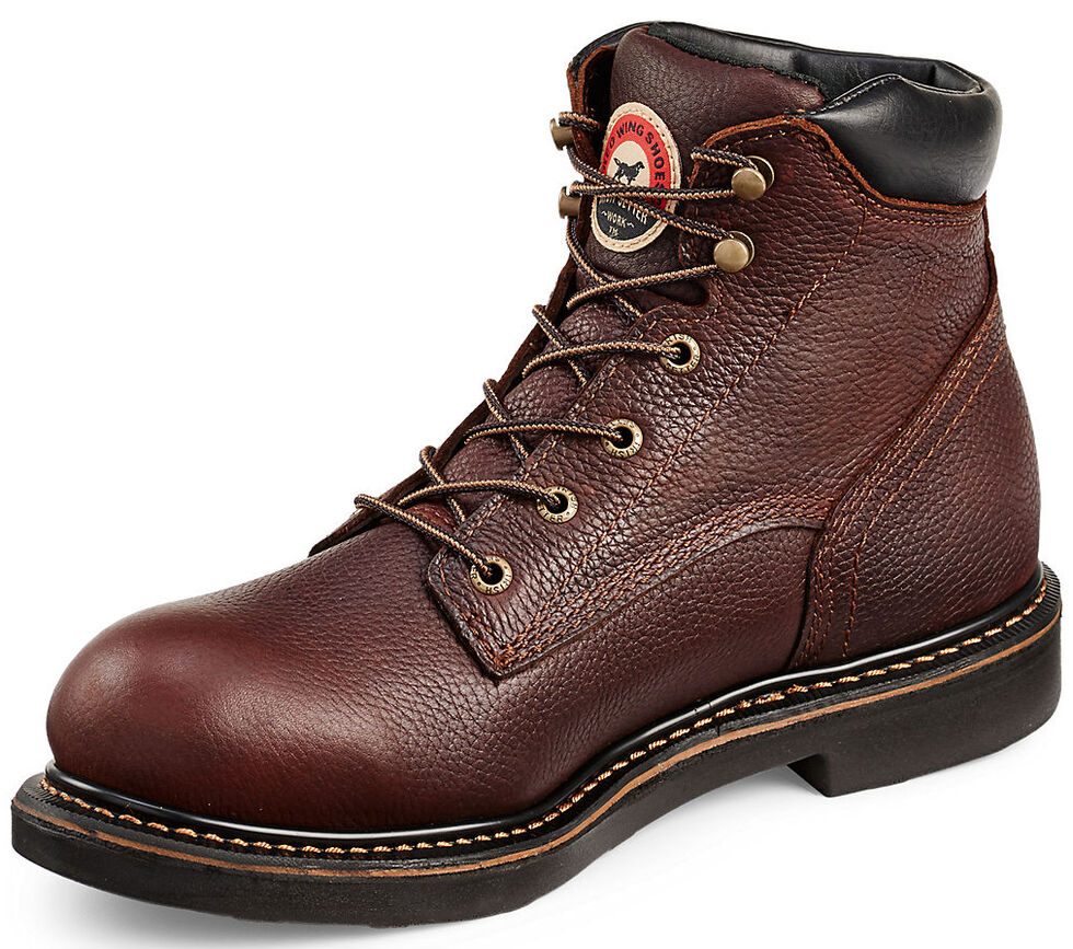 "Irish Setter by Red Wing Shoes Men's Farmington 6"" Work Boots - Safety Toe   , Brown, hi-res"